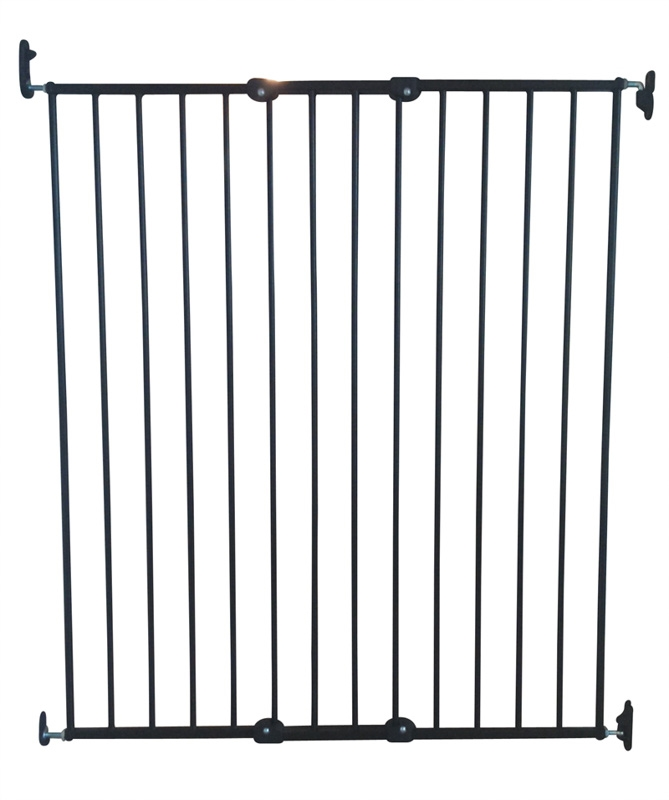 Hundgrind PET Gate Streamline metall BabyDan, 63,5-107 cm, svart