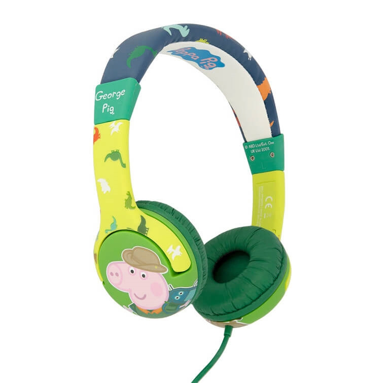 Hörlur Barn Junior PEPPA PIG On-Ear 85dB Dino George