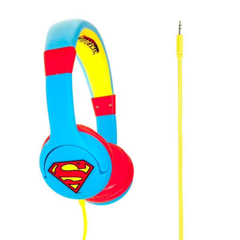 Hörlur Barn SUPERMAN 1 On-Ear 85dB Blå/Röd