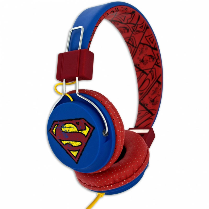 Hörlur Barn SUPERMAN Tween On-Ear 100dB Blå Vintage